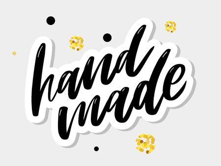 Handmade lettering. Vintage font desig Vintage style Calligraphic font. Vintage typography. Sketch, slogan Ilustração