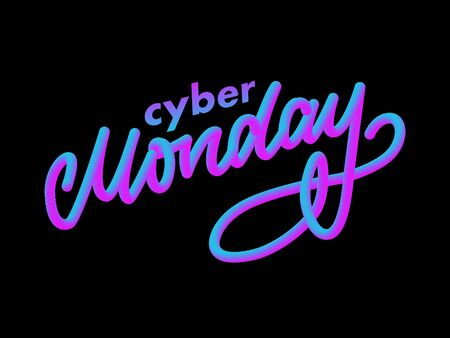 Cyber monday letter. Cyber monday sale banner vector. Cyber monday banner design. Technology background. Concept event advertising.