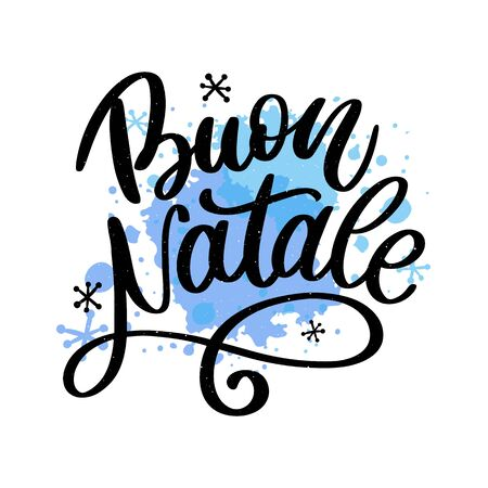 Elegant Holiday Vector Lettering Series: Buon Natale