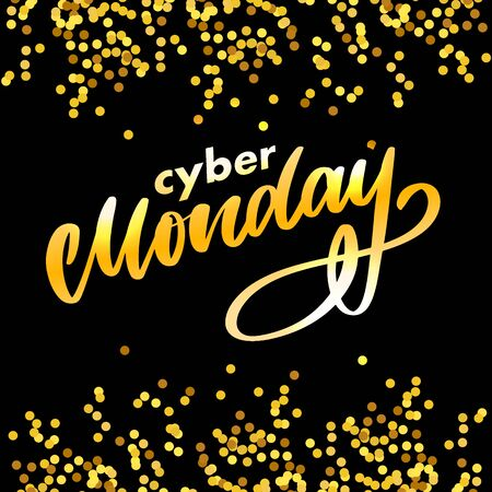 Cyber monday letter. Cyber monday sale banner vector. Cyber monday banner design. Technology background. Concept event advertising. Stock Vector - 134959565