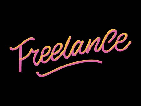Hand sketched Freelance word. Great for card, invitation, badge, tag, icon, poster, banner template Lettering typography Vector