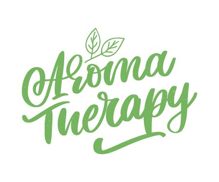 Aroma therapy letter for luxury lifestyle design. Alternative medicine. Healthy lifestyle concept. Organic Ilustrace