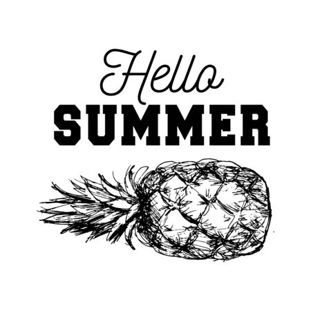 Pineapple black and white design