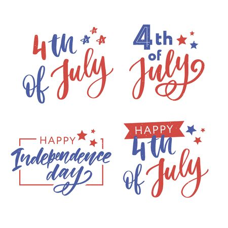 illustration of 4th of July Background with American