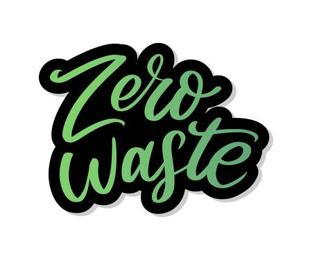 Zero waste conception Green Eco Ecology lettering text