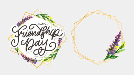Friendship day vector illustration with text and elements for celebrating friendship day 2020