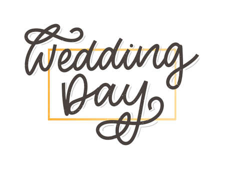 wedding hand lettering sign calligraphy text brush slogan.