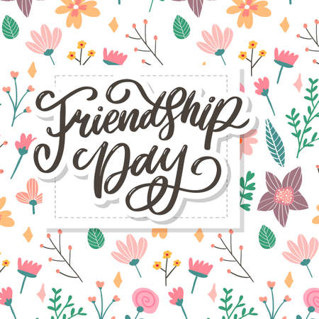 Beautiful Illustration Of Happy Friendship Day,Decorated Greeting Design Standard-Bild - 151369029