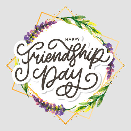 Friendship day vector illustration with text and elements for celebrating friendship day 矢量图像