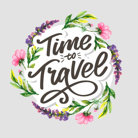 Travel life style inspiration quotes lettering. Motivational typography. Calligraphy graphic design element. Collect moments Old ways wont open new doors.