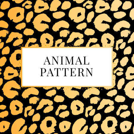 seamless black and white leopard pattern