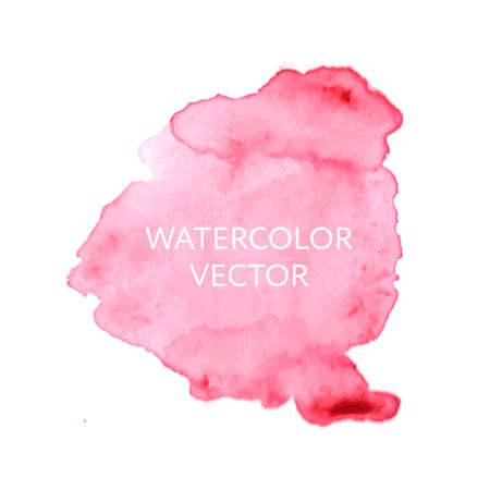 Abstract watercolor splash. Watercolor drop vector Vetores