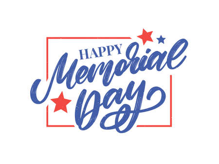 Happy Memorial Day - Stars and Stripes