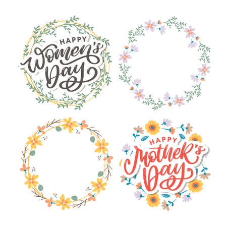 Elegant greeting card design with stylish text Mother s Day on colorful flowers decorated