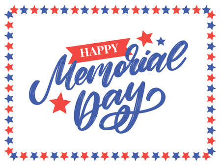 Happy Memorial Day - Stars and Stripes Иллюстрация