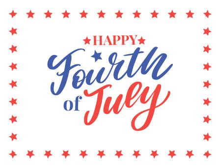 stylish american independence day design Иллюстрация