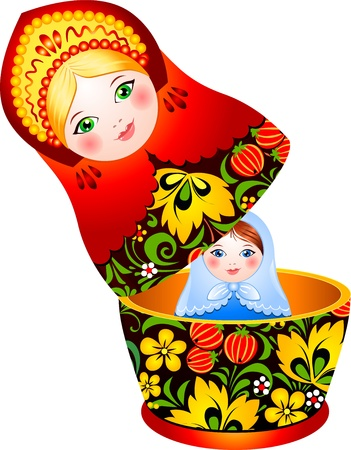 babushka: Russian tradition matryoshka doll