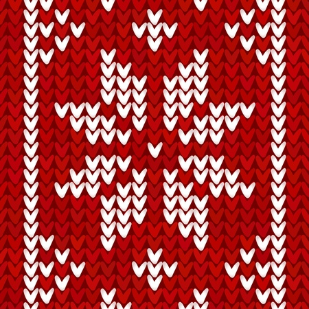 norwegian: Christmas embroidery background Illustration