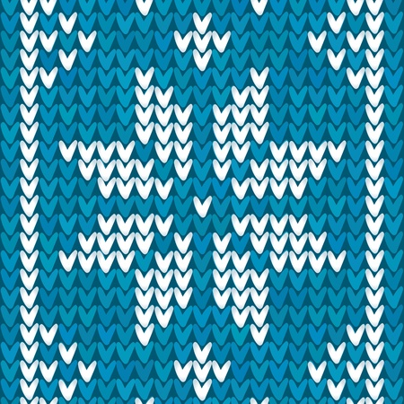 Blue Christmas embroidery background Illustration