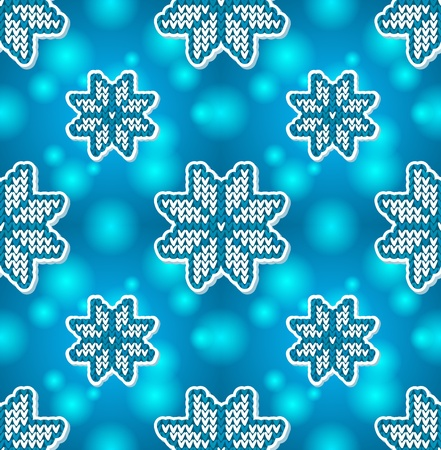 Christmas blue embroidery seamless pattern Stock Vector - 16110224
