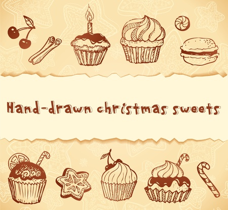 Isolated bakery hand-drawn illustrations set Vector