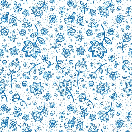 Hand-drawing flower pattern Stock Vector - 16173707