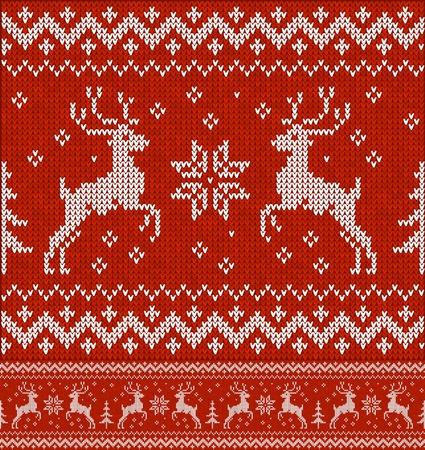 norwegian: Sweater with deer Illustration
