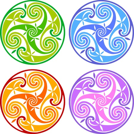 Colored celtic triskels photo