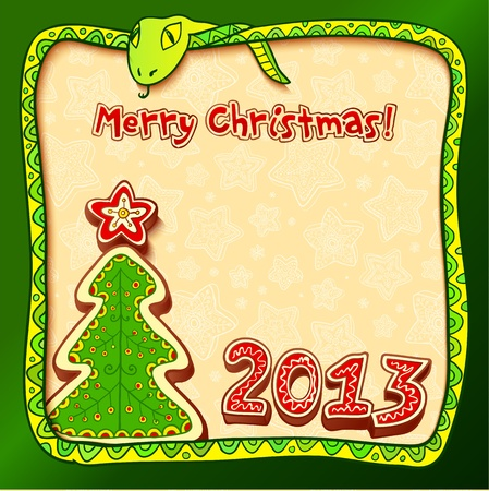 Christmas and New Year 2013 greeting card Stock Photo - 16296063