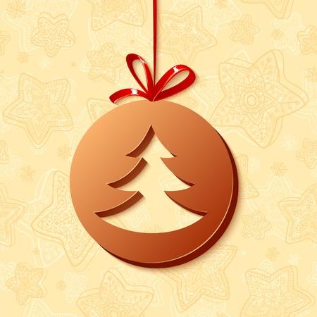 cioccolato natale: Cartolina di Natale di cioccolato auguri Vettoriali