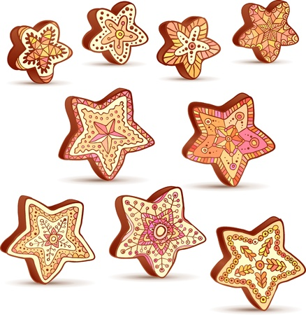 Hand-drawn Christmas honey sweets Vector