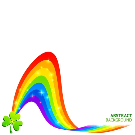 Vector background with rainbow and lucky clover Stock Photo - 16296099