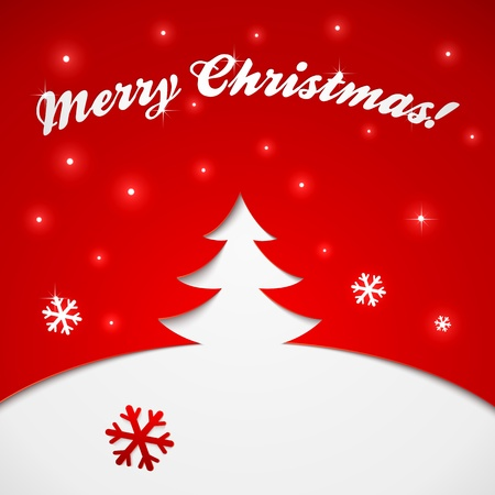 Red and white Christmas tree  Vector