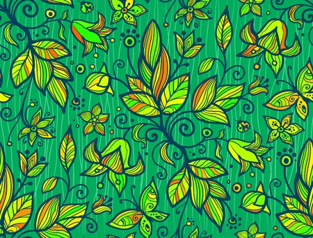 Abstract ornate shining flower  seamless pattern Stock Vector - 16403102