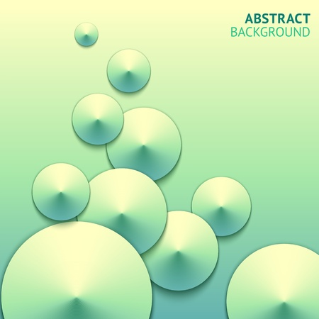 Abstract web design bubbles background Vector