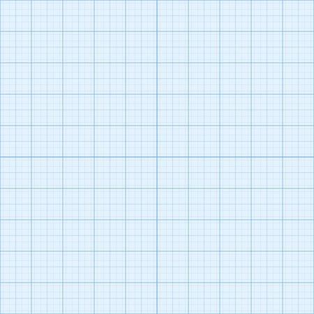 hoja cuadriculada: Tama�o real papel azul ingenier�a mil�metro Vectores
