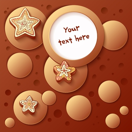 romantically: Christmas chocolate bubbles background with text field