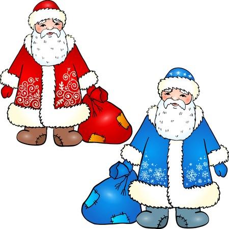 sac: Russian Santa Claus - Grandfather Frost  illustration Illustration