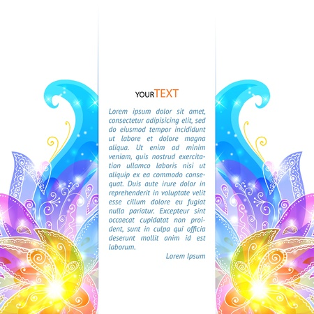 Shining flowers  background brochure template Vector