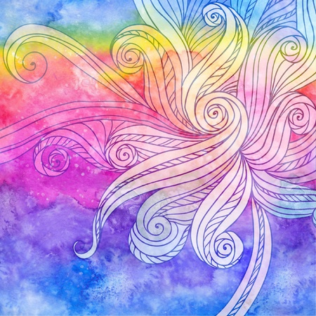 Abstract seamless watercolor hair or waves background Stock Photo - 16668818