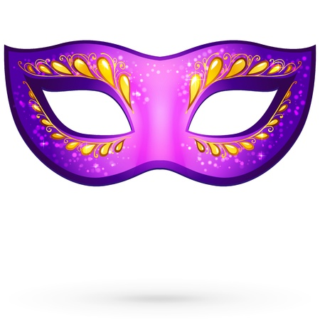 decoration decorative disguise: Vector violet ornate venitian carnival mask