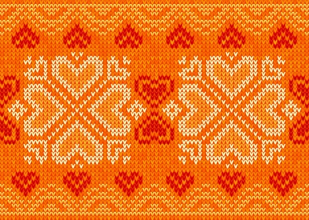 close knit: Valentines day ornamental embroidery seamless pattern