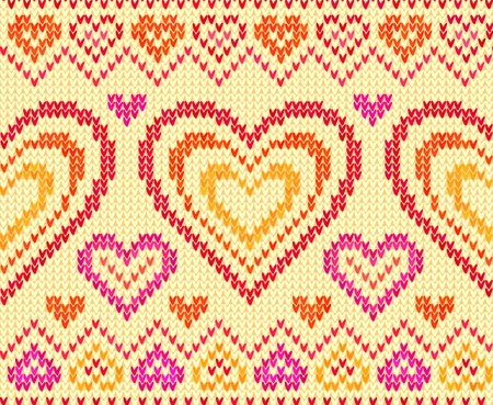Valentines day colorful knitted sweater seamless pattern Stock Vector - 16991753