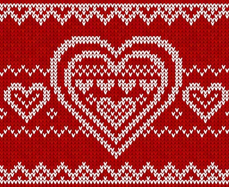 Valentines day red knitted sweater seamless pattern Stock Vector - 16991751