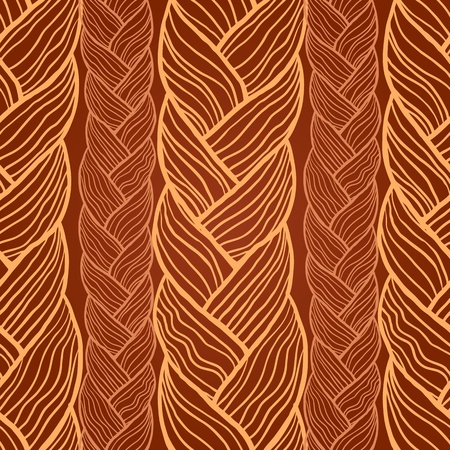 braid: Abstract seamless texture, endless pattern with hair