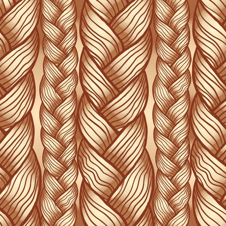 Abstract seamless texture, endless pattern with hair Vector