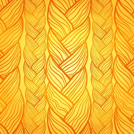 braid: Abstract seamless texture, endless pattern with hair or wool