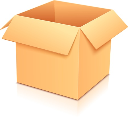 Vector yellow empty paper box, template for your design Stock Vector - 17218097