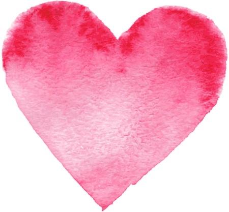 Pintado a mano del corazón rojo elemento, para su diseño