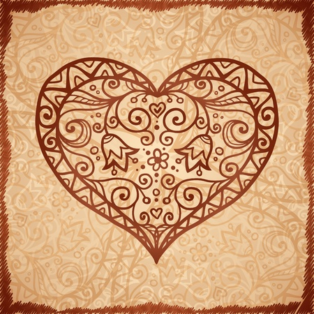 Vintage beige ornate background in Indian style Vector